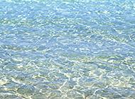 蔚蓝天空海水水天相接美景