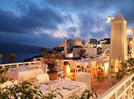 希腊圣托里尼岛夜景风景图片壁纸