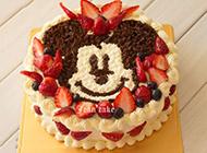 米奇先生卡通生日蛋糕唯美图片