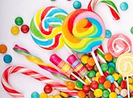 甜蜜耀眼的七彩棒棒糖图片
