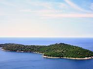 俯视梦幻海岛自然风光图片