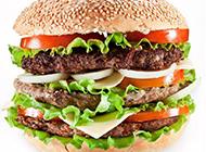 千层芝士牛排汉堡高清图片