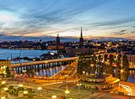 瑞典首都斯德哥尔摩的繁华建筑图片