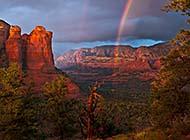 彩虹当空绝美风光高清桌面壁纸
