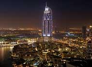 迪拜城市美景晨曦唯美高清图片