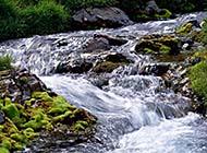 瀑布溪流唯美高清壁纸