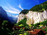 瑞士阿尔卑斯山风景秀丽旖旎