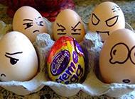 搞怪鸡蛋彩绘创意个性图片精选