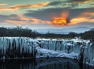 冬天湖泊美景壁紙震撼唯美