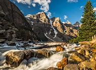 加拿大风景名胜 班夫国家公园优美风景壁纸