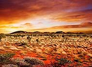 浩瀚无边的沙漠戈壁风光高清图片