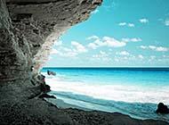 清凉夏日海边浪漫沙滩风景美图