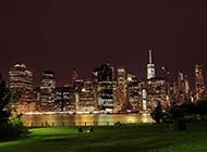 纽约城市夜景风景图片壁纸迷离梦幻