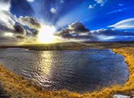 夕阳天空图片壁纸灿烂优美