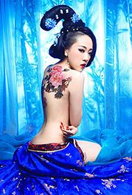 蓝色妖姬美女古典人体艺术欣赏