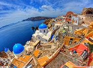 希腊圣托里尼岛旅游美景图片