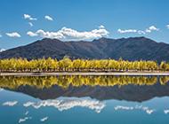 西藏山水湖泊倒影风景图片