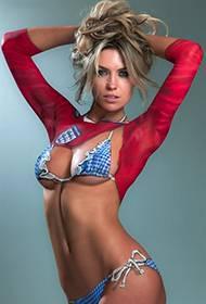 外国美女人体彩绘挥洒性感写真