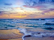 蓝色的大海唯美自然风景图片壁纸