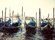 浪漫城市威尼斯水城清晨优美风景图片精选