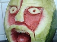 西瓜的惊悚表情秀