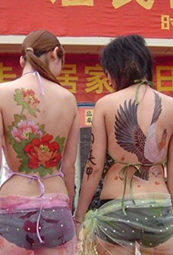 街头人体彩绘艺术图片欣赏