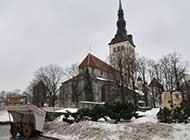 芬兰洁白唯美雪景高清风景图片