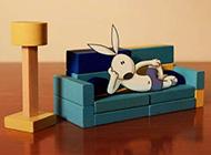 功夫兔创意现实手绘漫画可爱图片