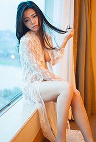 美女luvian本能透明蕾丝裙性感人体艺术图片