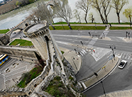 法国普罗旺斯教皇之城萧瑟秋天风景图片