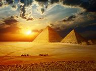 优美的世界名胜古迹 埃及金字塔古建筑图片