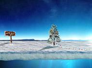 唯美冬天雪景精美桌面壁纸