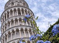 欧洲古典建筑意大利比萨斜塔图片