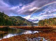 美丽的雨后彩虹高清图片欣赏