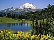 山水为伴自然界秀丽风景图片