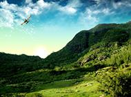 南方恬静绿色山水风景图片壁纸