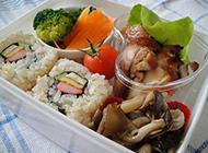 日式简易米饭便当营养丰富