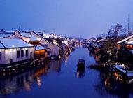 江南乌镇水乡夜景图片风光旖旎