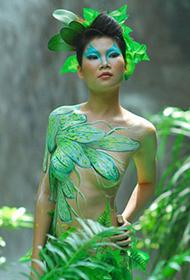 森林系人体彩绘写真欣赏