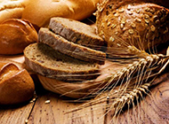 香酥柔软的面包摄影高清图片