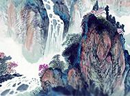 中国大好河山水墨画精美壁纸