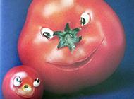 咧开嘴笑的西红柿