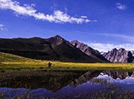 中国山脉自然田园风光图片