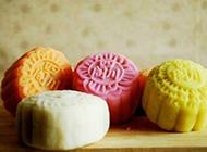 广式冰皮月饼糕点图片色彩鲜艳诱人