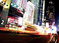璀璨城市夜景街道高清图片