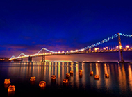 美国旧金山大桥风景图片特写