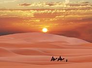 撒哈拉沙漠浪漫日出精致风景高清壁纸推荐