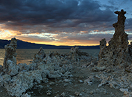 湖泊美景 美国莫诺湖风景图片