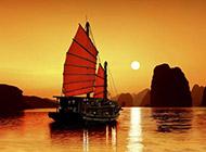 迷人的黄昏海景风光高清宽屏壁纸