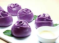 紫薯玫瑰馒头营养美味